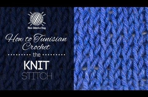 Knitting Instructions For Beginners Left Handed : How to tunisian crochet the knit stitch