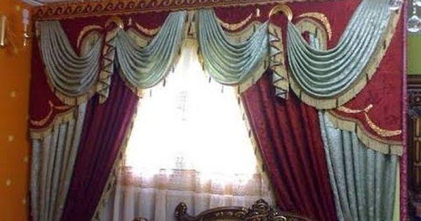 طريقة تفصيل الستائر البرقع ج10 الفستونه المايله Living Room Decor Curtains Home Decor