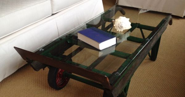 Vintage Hand Truck Turned Into A Coffee Table