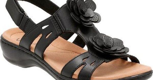 Clarks Women S Leisa Claytin Strappy Sandal Strappy Sandals Black Leather Sandals Black Strappy Sandals