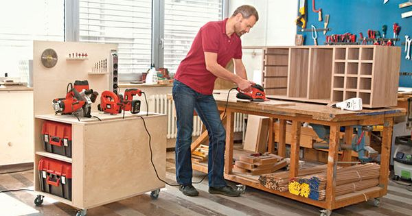 mobile werkbank selber bauen tool cart diy workshop and. Black Bedroom Furniture Sets. Home Design Ideas