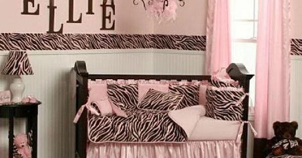 ZEBRA inspired theme kids baby room Pink zebra
