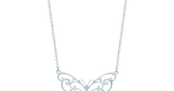 Tiffany Enchant® butterfly pendant in sterling silver.