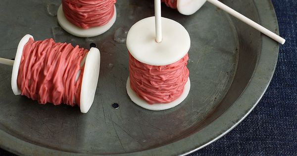 Spools of Thread Cake Pops - would be cute for a Cinderella