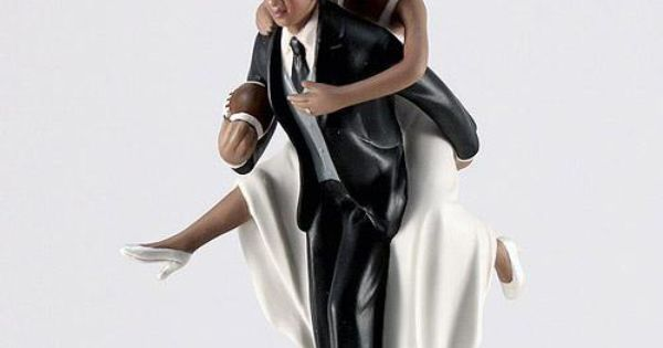 african american football wedding cake toppers american football wedding cake topper made 10595