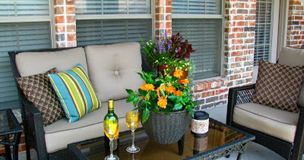May Days A Small Patio Makeover Patio Furniture Layout Small Patio Ideas On A Budget Small Patio