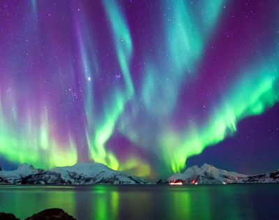 Northern Light Skulsfjord Tromsø Aurora borealis