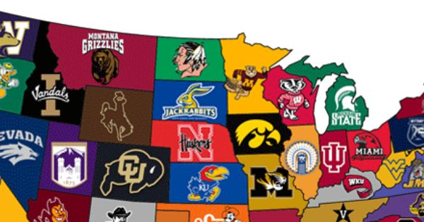 The Biggest Party School In Each State Biggest Party Schools School Parties Big Party