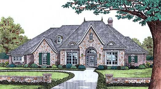European Style House Plans 2720 Square Foot Home 1 Story 3 Bedroom And 2 Bath 3 Country Style House Plans French Country House Plans Monster House Plans