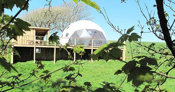 The Pod A Geodesic Dome At Loveland Farm Caravan And