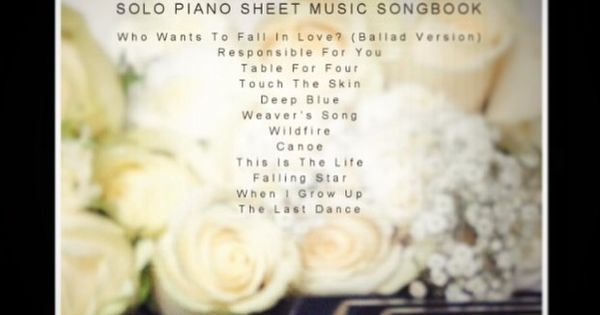 Wedding Piano Songs sheet music - available from my website #wedding