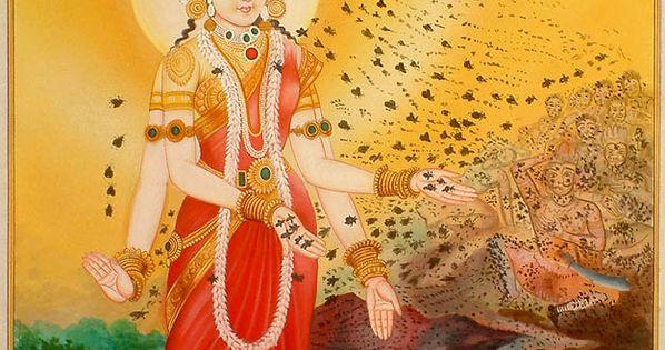 Bhramari Devi Goddess Of The Black Bees The God Vishnu
