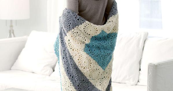 Changement de couleurs plaids couvertures pinterest crochet afghan couvertures et crochet - Changer de couleur tricot ...