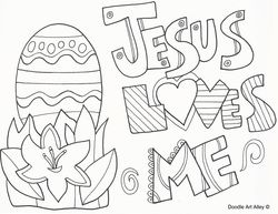 Picture Easter Coloring Pages