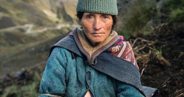 Peruvian potato farmer.