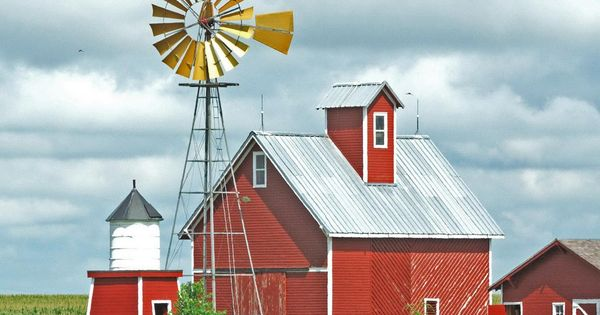 Old windmills & old barns