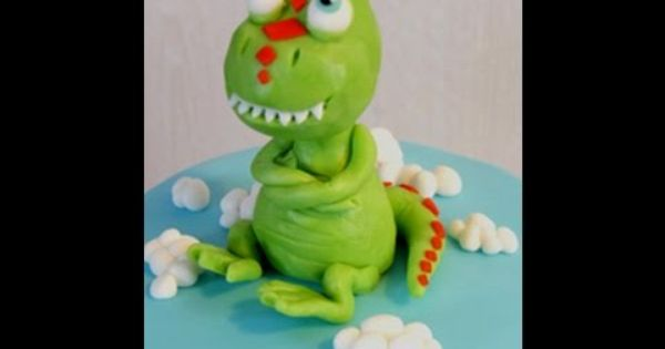 Dinosaur Train Cake Topper Tutorial