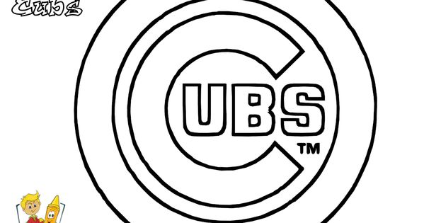 03 Chicago Cubs baseball coloring atcoloringpagesbook