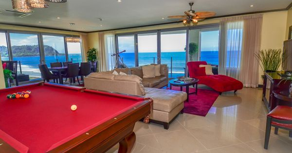 Man Cave Jaco : Pool table l shaped sectional and chaise lounge
