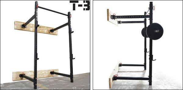 Titan T3 Folding Wall Rack The Rogue R 3w Clone Folding Walls Home Gym Design At Home Gym
