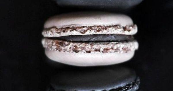 Macaroons | Sweet things | Pinterest | Macaroons, Black and Desserts