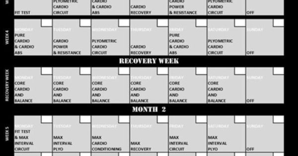insanity Workout Routine Schedule | The Insanity Workout Schedule - Get The