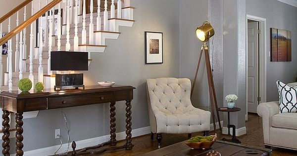Farbideen Frs Wohnzimmer Hellgrau Design Wand Rustikal Couchtisch Sessel Vintage