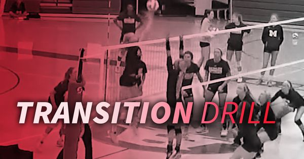 Transition Drill With Changing Tempo Coaching Volleyball Volleyball Drills For Beginners Volleyball Conditioning