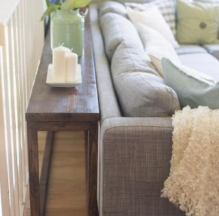 Sofa Table Featuring Jenna Sue Design Under Living Room