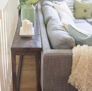 Sofa Table Featuring Jenna Sue Design Under Living Room