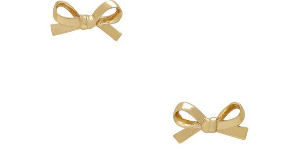 Kate Spade, Skinnty Mini Bow Tie Earrings
