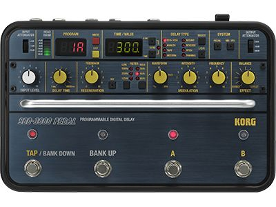 Sdd 3000 Pedal Programmable Digital Delay Korg Usa In 2020 Korg Delay Pedal Effects Pedals