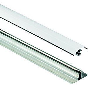 Wickes White Universal Glazing Bar For Polycarbonate Sheets 3000mm Polycarbonate Polycarbonate Panels Wickes