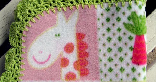 Crocheted edge for a fleece baby blanket Crochet ...