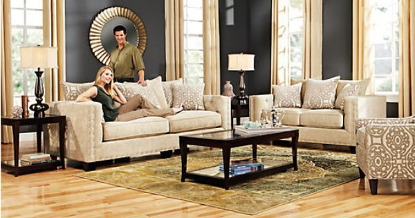 Formal shop for a cindy crawford home sidney road 7 pc for Find living room furniture