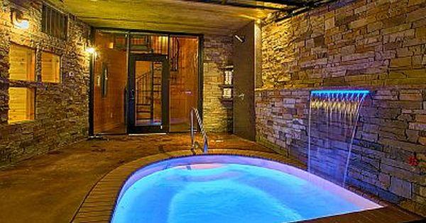 Romantic Modern Cabin With Indoor Pool Spa And Amazing Mountain Views Gatlinburg Indoor Pool Gatlinburg Cabin Rentals Gatlinburg Cabins