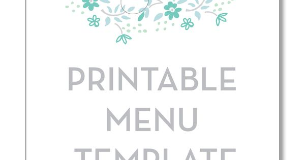 tea party menu template - printable menu template from smitten on paper tea party