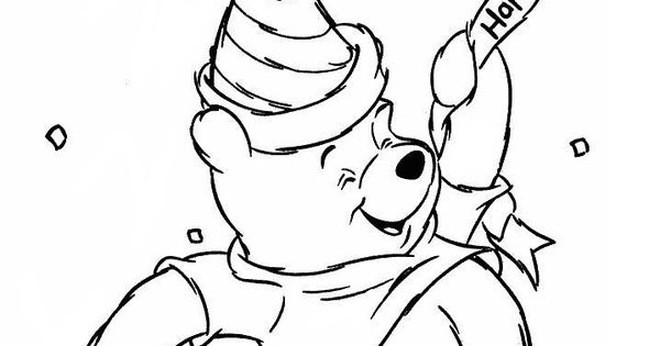 happy birthday pooh bear coloring pages | Pooh Books Coloring Pages... ediaa para Happy Birthday ...