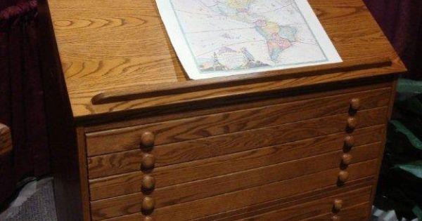 Amish Slant Top Secretary Desk With Hutch Top Flat File