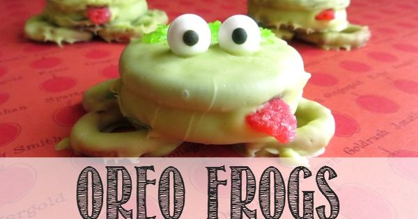 Photo: How CUTE are these Oreo Frogs by Made to be a