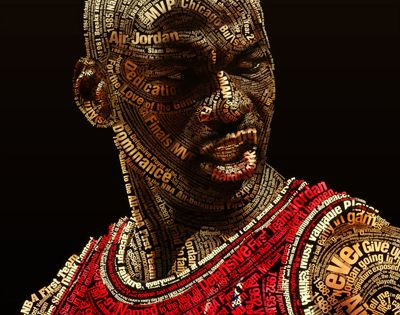 Amazing Michael Jordan Typography Poster Art Pinterest