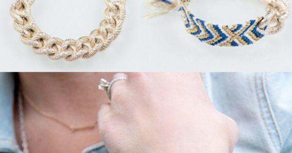 DIY Fashion Forward Bracelet. Friendship bracelet update.