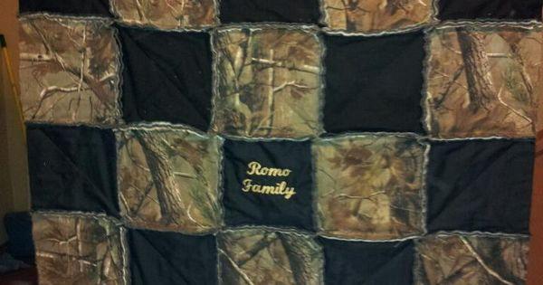 A Custom Camo Rag Quilt I Use A Same Fabric On Back As On