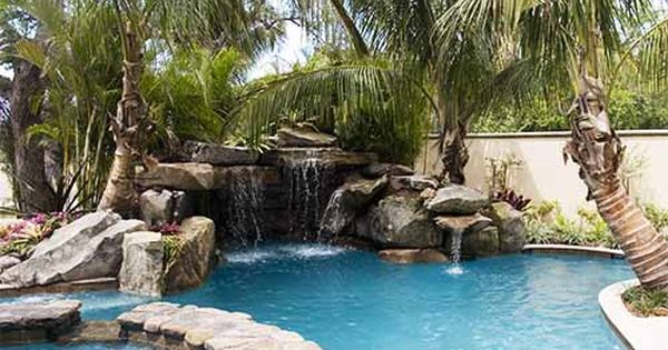 Love It Lagoon Pool With Grotto Waterfall Spa And Fire Pit