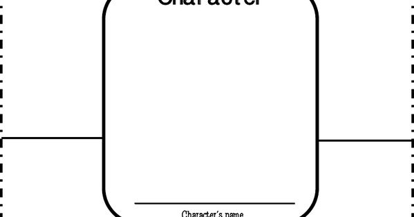 Character traits map - graphic organizer for focus on understanding character development