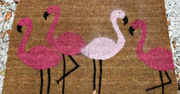 Diy Flamingo Doormat Home Decor Pinterest Flamingo