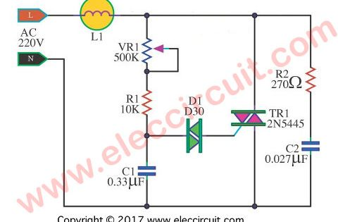 Dimmer Circuit Using Scr Triac Eleccircuit Com Circuit Electronic Schematics Dimmer