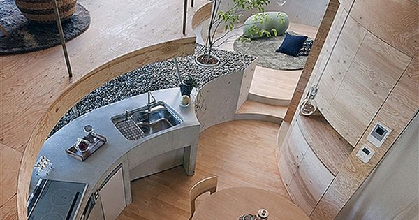 "The Cool Hunter - Architecture - quite the ""rounded"" kitchen!"