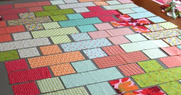 Plus Quilt - pattern using rectangles and squares. I wish I would have seen this a month ago ...