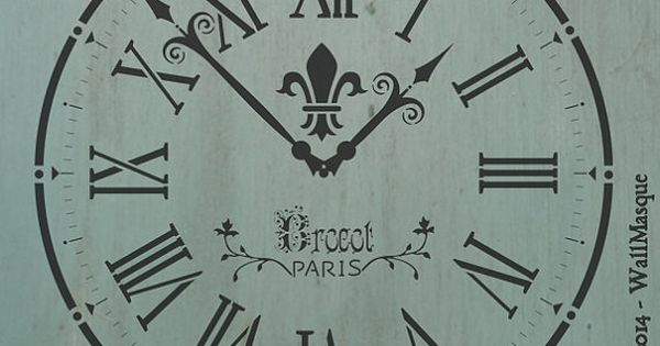 Old Clock Stencil Stenciling Clocks And Chalk Paint